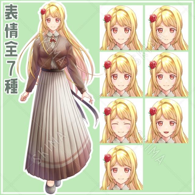 金髪の女の子【表情全7種】