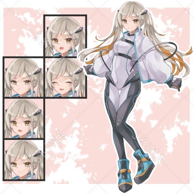 SF風の少女(全身/表情差分)