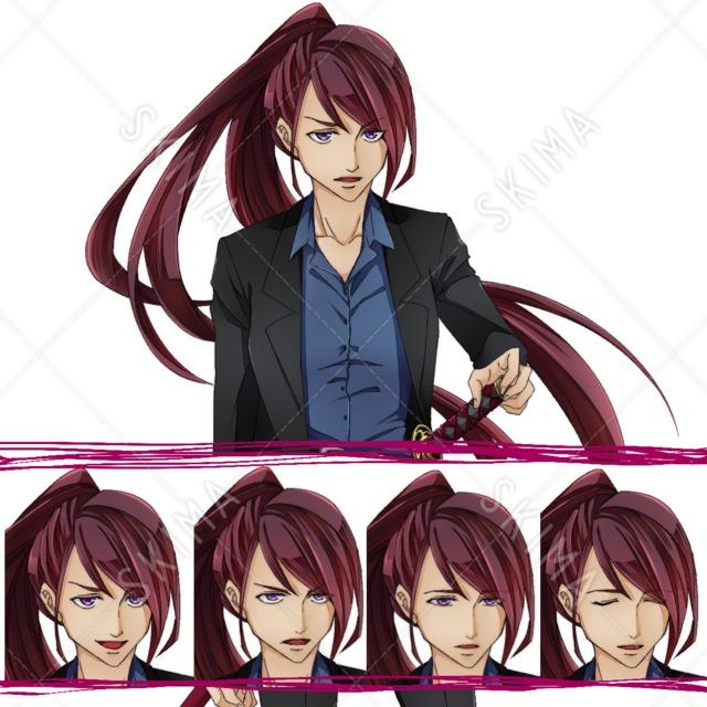 スーツ×刀×女性