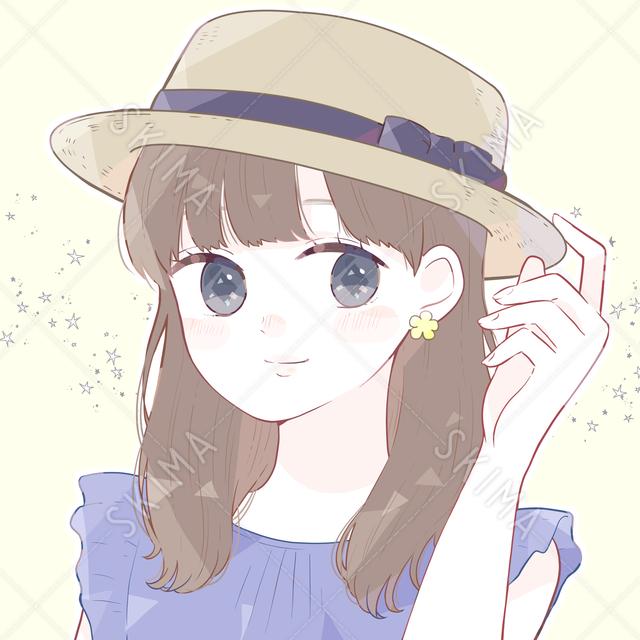 カンカン帽の女の子アイコン