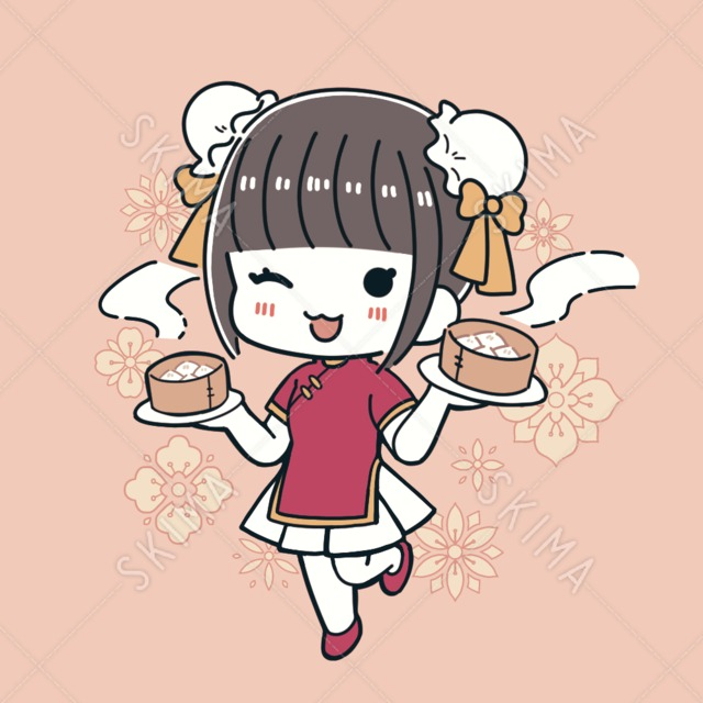 【SNSアイコン】チャイナ服の女の子