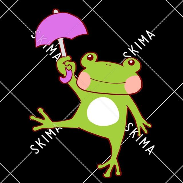 ゆるい傘持ちカエル【表情差分】