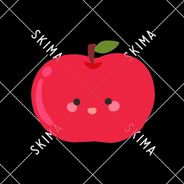 【主線なし】ゆるいりんご【表情差分】
