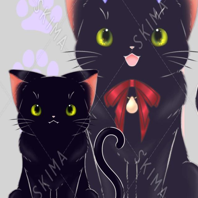 角付き黒猫