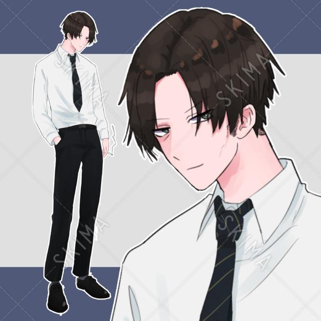 スーツおじさん〖表情5種〗
