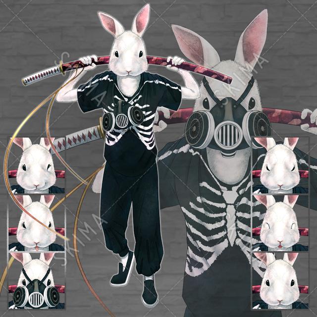 動物 アニマル ウサギ ガスマスク