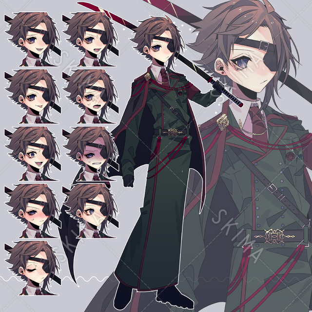 軍服の少年【表情差分10種類】