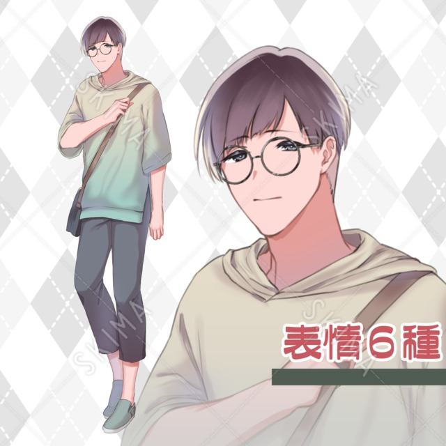 丸メガネの男の子