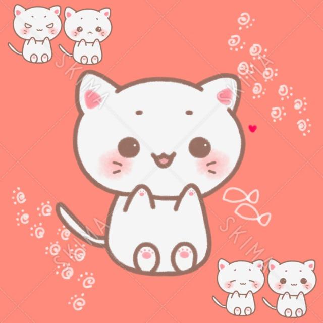 白猫/しろねこ 【表情5種】