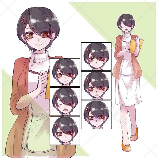 【表情差分6種】看護師の女性立ち絵
