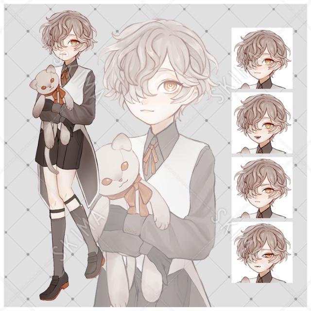 adopt♦ぬいぐるみ/少年【表情差分4種】