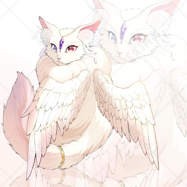 【お値下げ】ねこちゃん×【天使】(表情差分あり)