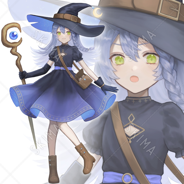 魔法使いの少女【表情5種+α】