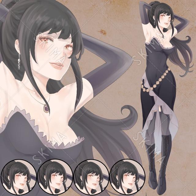 闇の魔女【表情差分:4種】