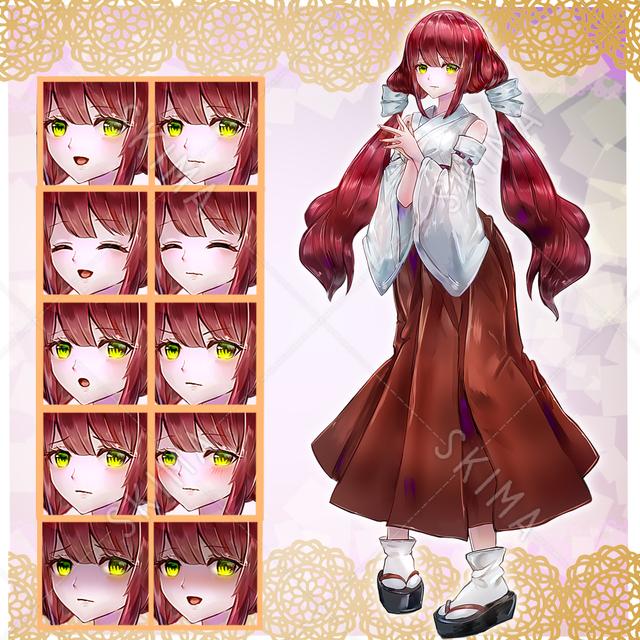 赤髪巫女さん(差分10)