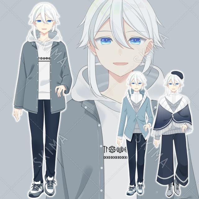 白髪メッシュ(服装差分2種)