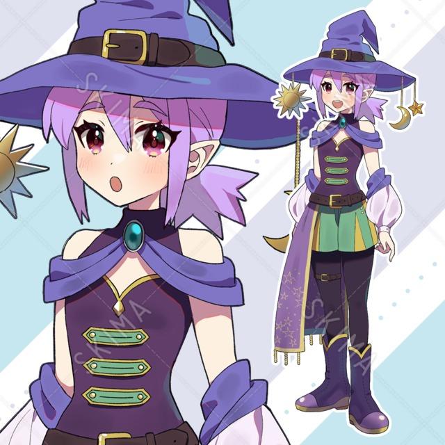 魔法使いの女の子【表情9種】