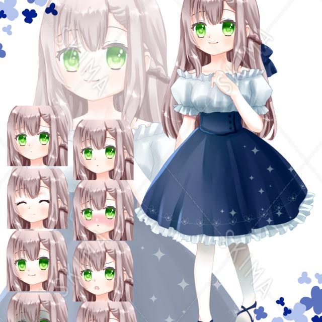 【最終値】adopt1 夏服の女の子(表情8種)