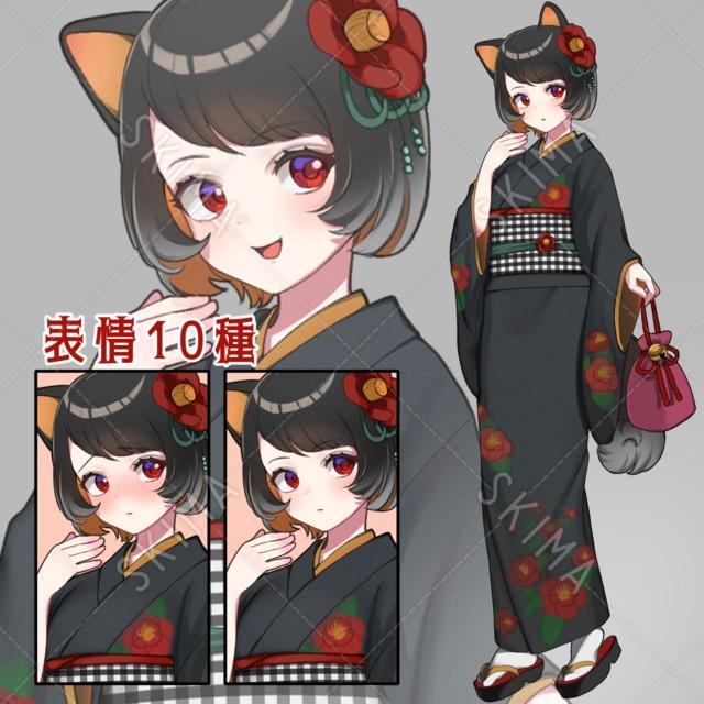 和服×わんこ×少女【表情10種】