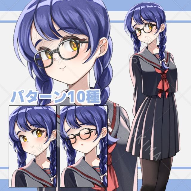 眼鏡の少女【眼鏡差分あり、パターン全10種】
