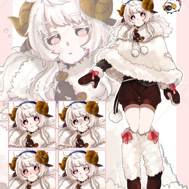 羊モチーフの女の子【期間限定お試し価格】