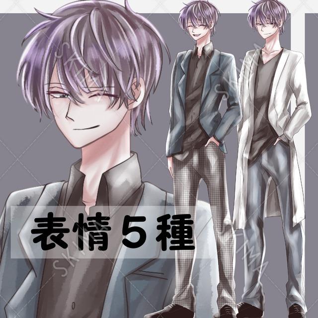 紫髪男子【衣装2種】