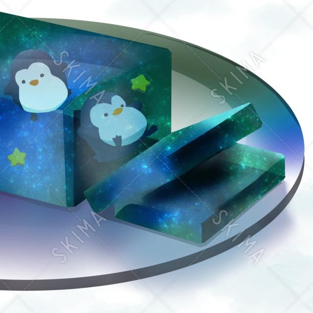 †フードアニマルシリーズ†錦玉羹を泳ぐ白玉ペンギン