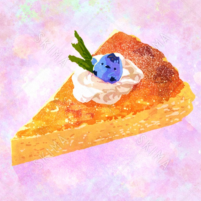 †フードアニマルシリーズ†チーズケーキに乗せられたブルーベリーとり