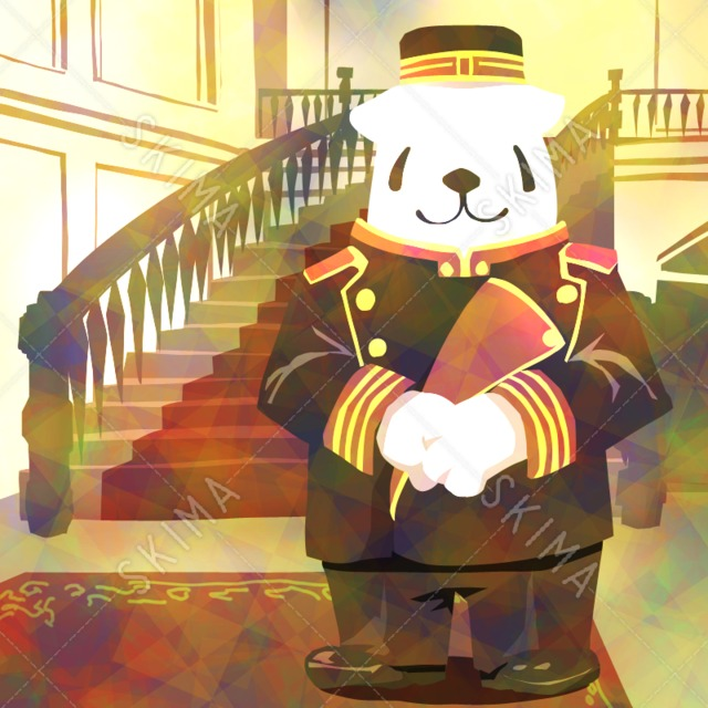 †コスチュームアニマルシリーズ†ホテルマンをするシロクマ
