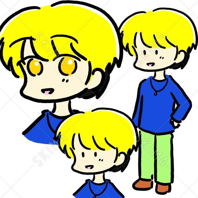 金髪の男の子(選べる2種類の目と全身)