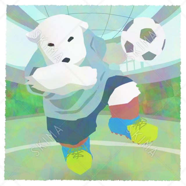 †コスチュームアニマルシリーズ†サッカー選手のシロクマ