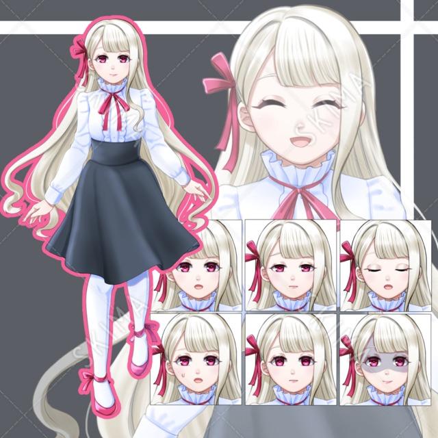 Adopt【表情8種】少女・アルビノ