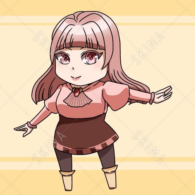 ぱっつんヘア女性 (表情6種)