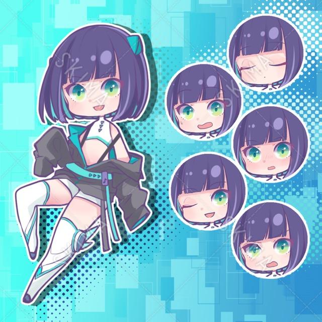 サイバーっぽい女の子