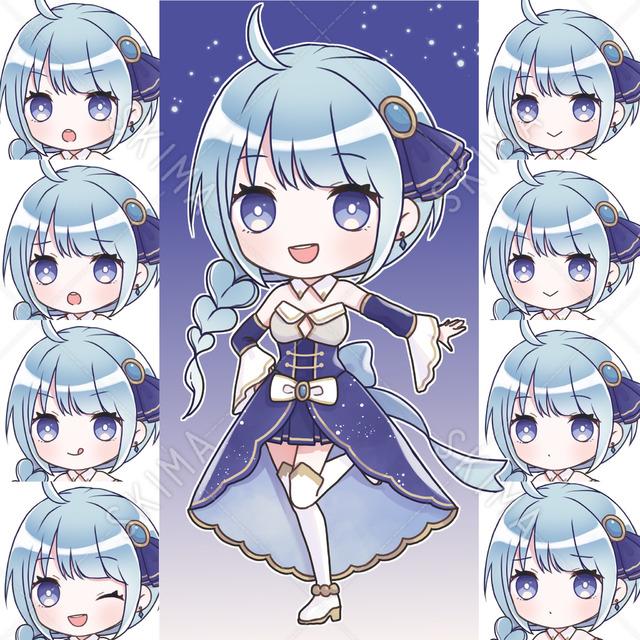 青いデフォルメ少女