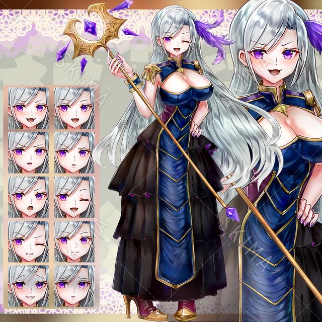 ドレス魔道士(表情差分10)