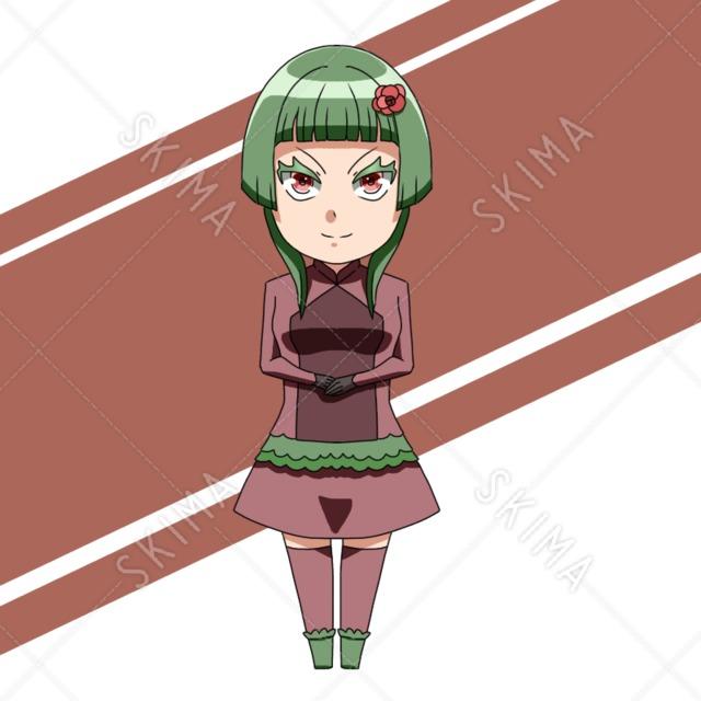 緑髪の女性 (表情6種)