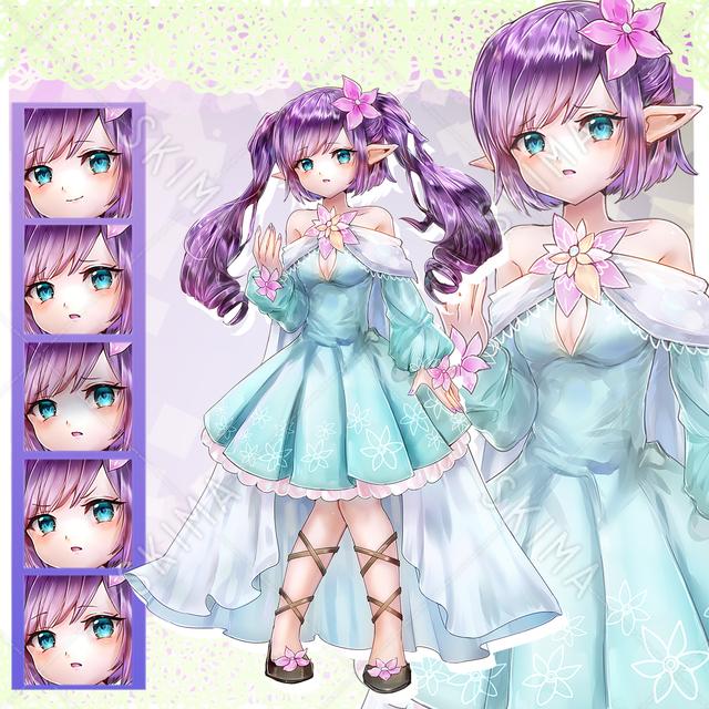 ロリっ子エルフ(髪型差分2種)