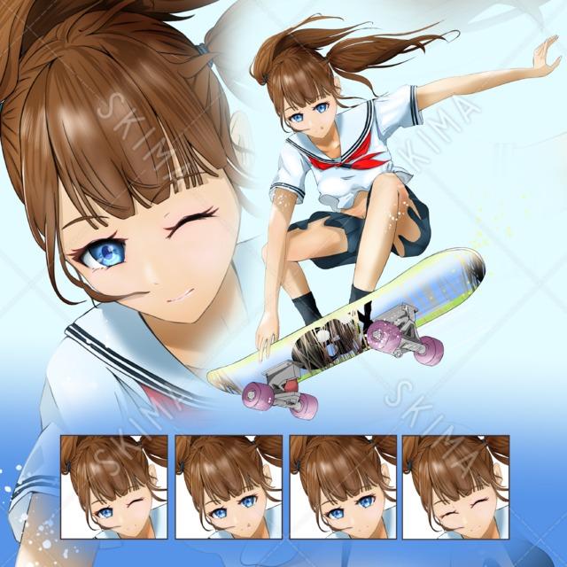 スケーター女子(差分4)