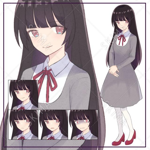 【9月末削除】清楚な女の子【表情4種】