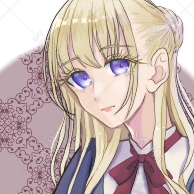 【アイコン+全体】金髪紫目の女の子