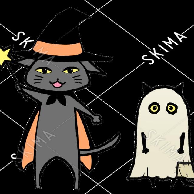 ハロウィンのクロネコさん