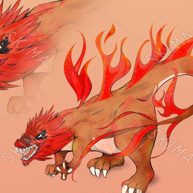 炎系ドラゴン - モンスターイラスト