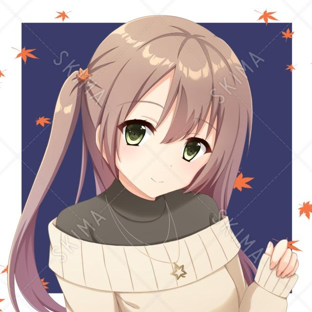 秋服の女性【アイコンイラスト】