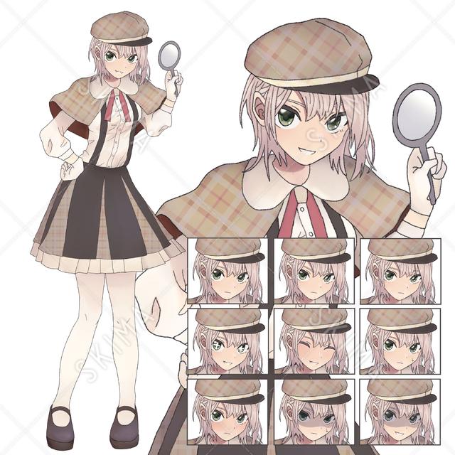 【値下げ中】探偵風の女の子【表情10種】