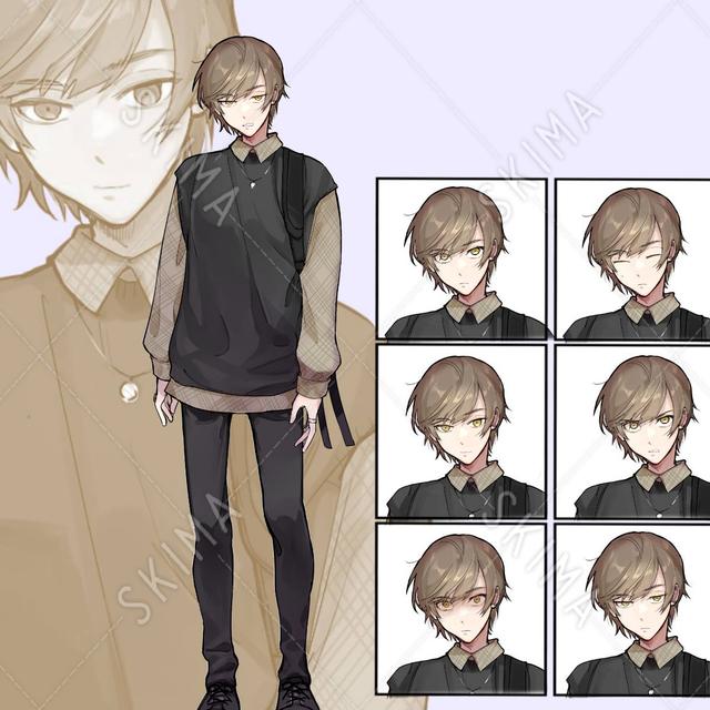 男の子 表情6種