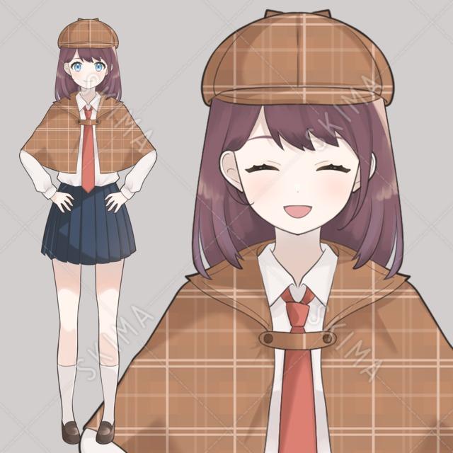 女子高生探偵【表情全6種】