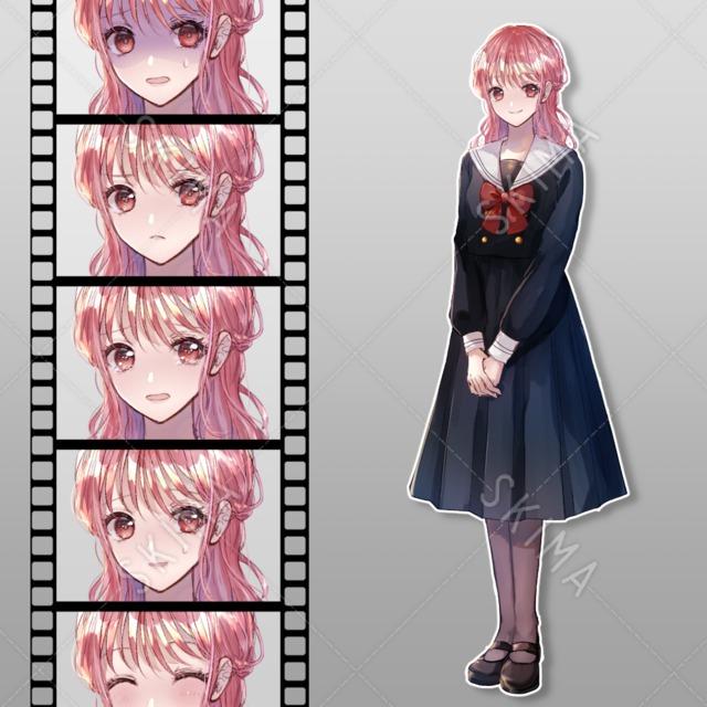 【今月迄】制服の女の子【表情7種】