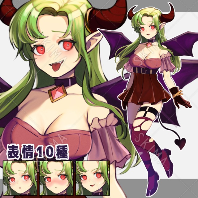 悪魔な女の子【表情10種】