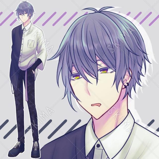 【表情10種】モード系/眠たげな青年